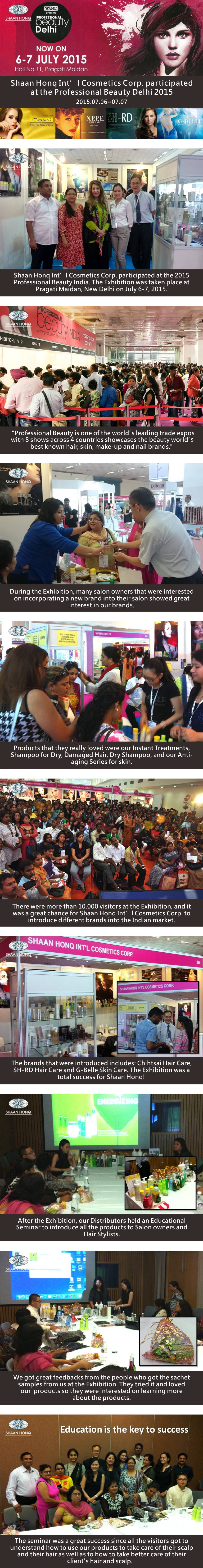Shaan Honq Int'l Cosmetics Corp.participated at the Professional Beauty Delhi 2015